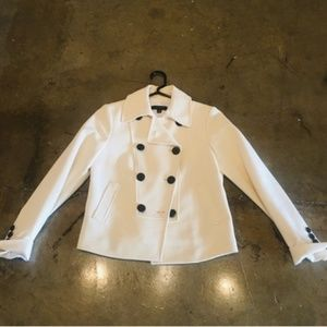 Women's Ivory Petite Double Breasted Blazer